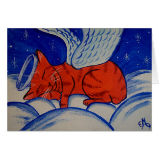 Cats Do Go To Heaven Angel Cat Card