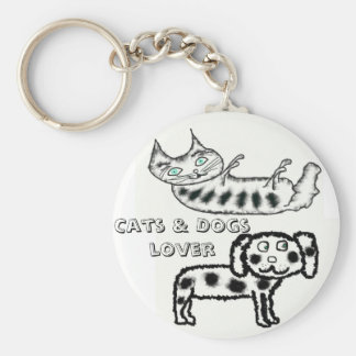 Cats & Dogs lover Keychain