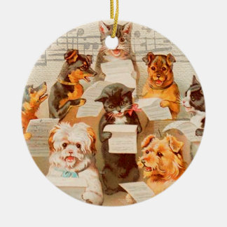 Cats & Dogs Singing PERSONALIZED Ornament