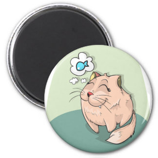 Cats Dream 2 Inch Round Magnet