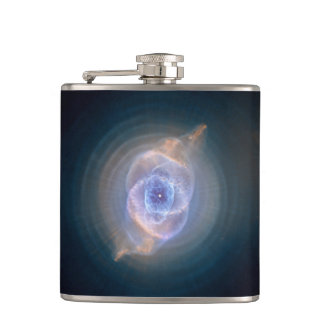 Cats eye nebula hip flask