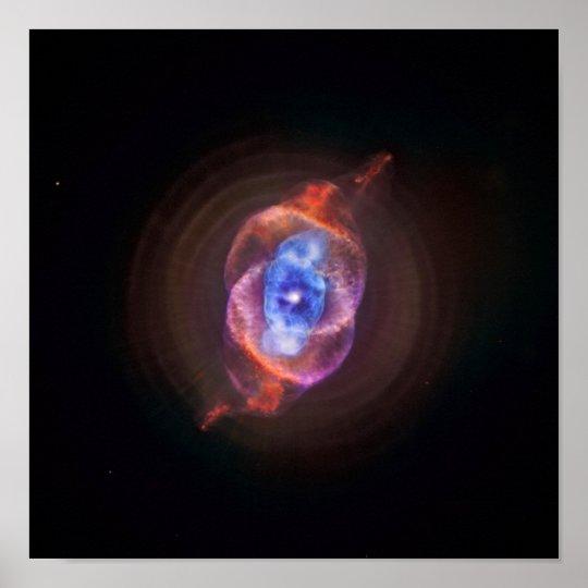Cat's Eye Nebula - Hubble / Chandra Poster