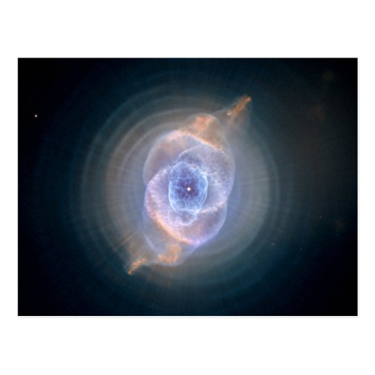 Cat's Eye Nebula Hubble NASA Postcard