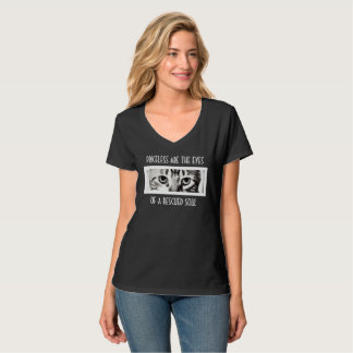 Cats Eye Rescue V-Neck T-Shirt