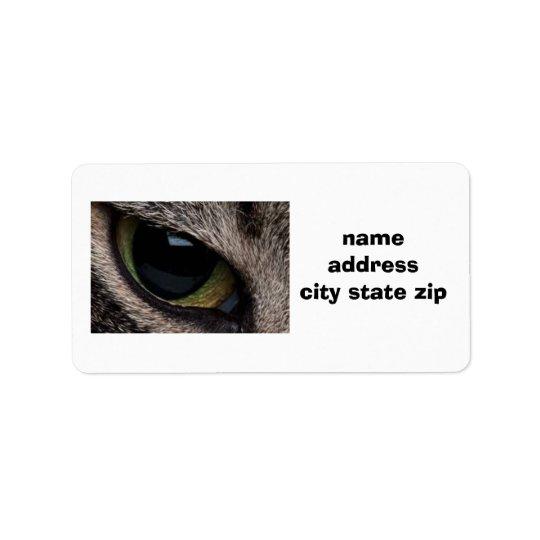 """CAT'S EYE"" RETURN ADDRESS LABLE LABEL"