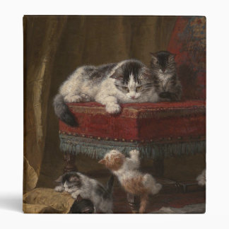 Cats family painting 3 ring binders