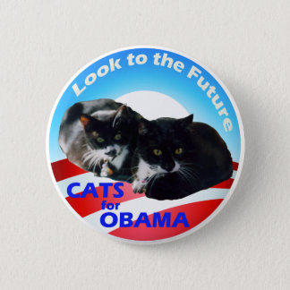 Cats For Obama 2 Inch Round Button