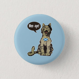Cats for Scottish Independence Badge 1 Inch Round Button