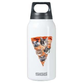 Cats For the Pizza-Lover Insulated Water Bottle