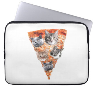 Cats For the Pizza-Lover Laptop Sleeves