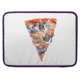 Cats For the Pizza-Lover Sleeve For MacBooks
