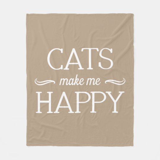 Cats Happy Blanket - Assorted Sizes & Colours