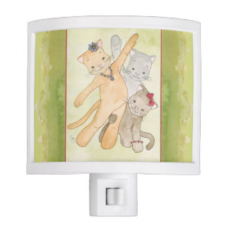 Cats having fun night Light