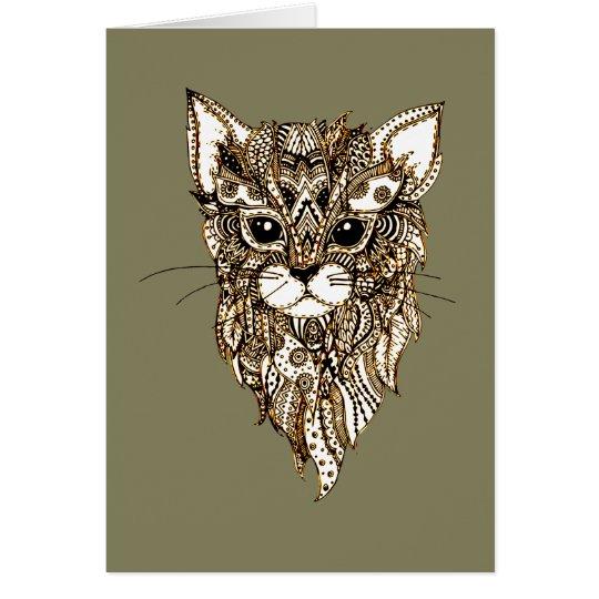 Cat's Head 3 Card