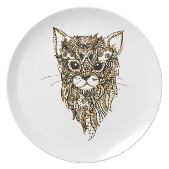 Cat's Head 3 Dinner Plate
