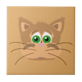 Cat's Head Ceramic Tile