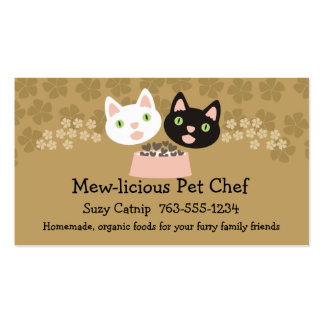 cats homemade pet food chef business cards\ business card