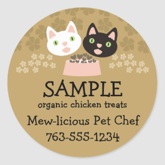 cats homemade pet food chef package stickers