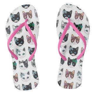 Cats illustration by miart flip flops