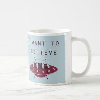 Cats in an UFO Coffee Mug