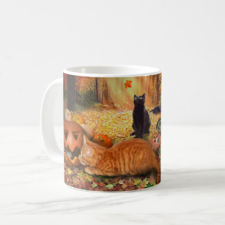 Cats in Autumn Coffee Mug
