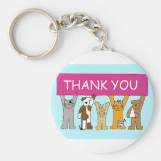 Cats in bandages, thanks to vet. keychain