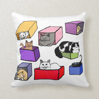 Cats in Boxes American MoJo Pillow