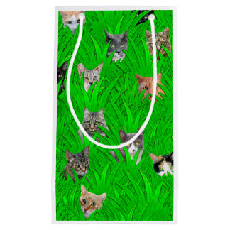 Cats in Grass Gift Bag