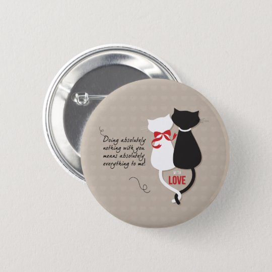 Cats in Love 2 Inch Round Button