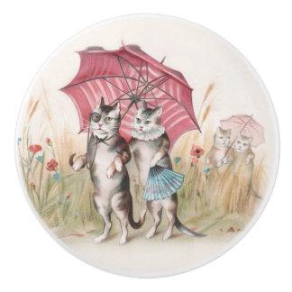 Cats in Love Cute Decorative Knob Ceramic Knob