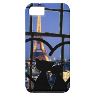 cats in   love in Paris Case For The iPhone 5