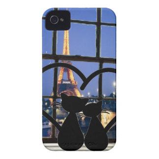 cats in   love in Paris Case-Mate iPhone 4 Cases