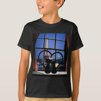 cats in   love in Paris T-Shirt