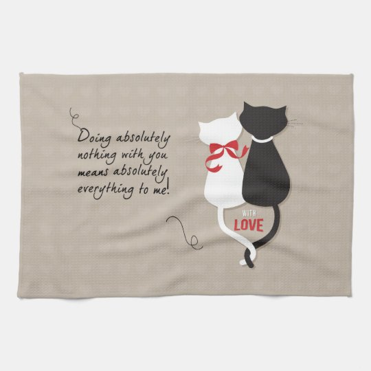 Cats in Love Kitchen Towel