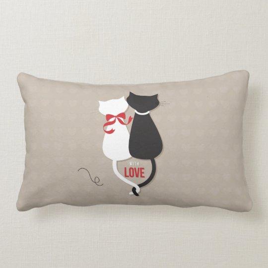 Cats in Love Lumbar Pillow