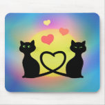 Cats In Love Mouse Pad