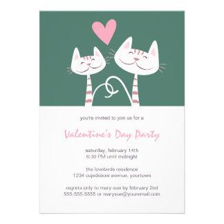 Cats in Love Sage | Valentine's Day Party Invite