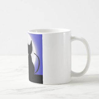 Cats In Moonlight Coffee Mug