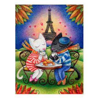 Cats in Paris Postcard
