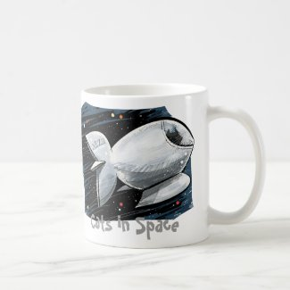 Cats in Space Basic White Mug
