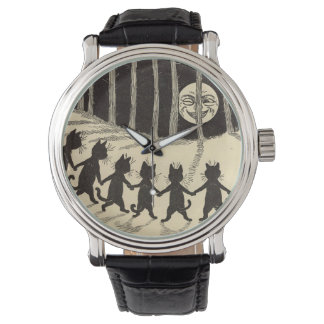 Cats in the Moonlight Custom Watch
