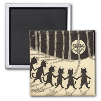 Cats in the Moonlight Magnet