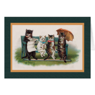 CATS IN THE PARK, Vintage Helena Maguire Card