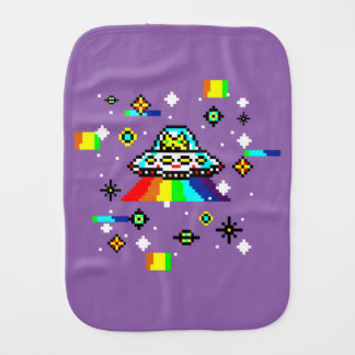 Cats invaders burp cloth