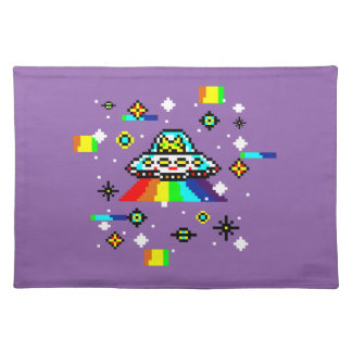 Cats invaders placemat