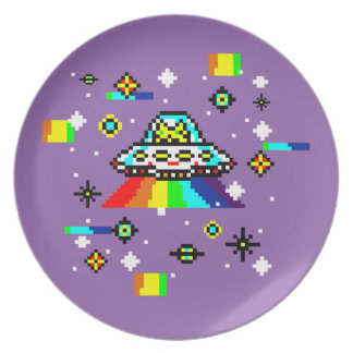 Cats invaders plate