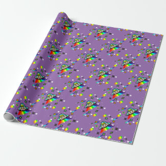 Cats invaders wrapping paper