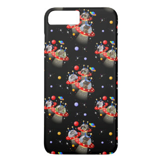 Cats Kittens in Alien Spaceship UFO Sci-fi Scene iPhone 8 Plus/7 Plus Case