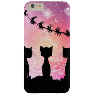 Cats looks to the sky to Santa Claus Barely There iPhone 6 Plus Case