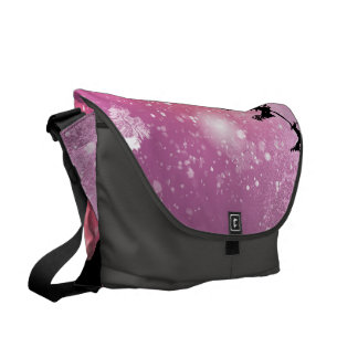 Cats looks to the sky to Santa Claus Commuter Bags